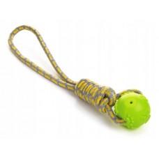 Sznur do aportowania z piłką zielony 45996-1 zabawka dla psa