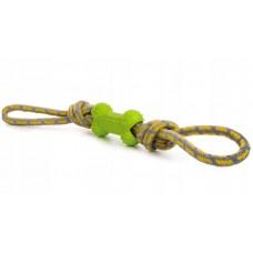 Sznur do aportowania z kością zielony 45998-2 zabawka dla psa