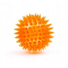 Zabawka dla psa led piłka kolce 5,5 cm żółta 45907-2