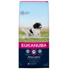Eukanuba active dog medium breed kurczak 15 kg sucha karma dla psa