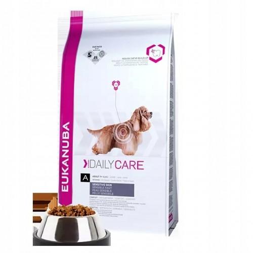 Eukanuba daily care sensitive skin 12,5 kg karma weterynaryjna dla psa