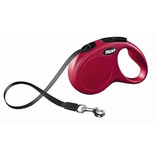 Flexi smycz clasic s linka 5 m 12 kg czerwona
