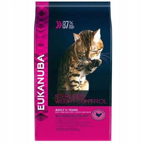 Eukanuba cat sterilised weight control 10 kg karma dla kota po sterylizacji