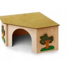 Domek narożny dla świnki królika pinokio p-07, mieszkanko