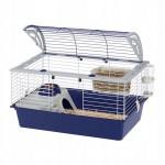 Klatka casita 80 czarna/niebieska dla świnki morskiej, królika, szczura