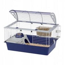 Klatka casita 80 czarno-niebieska dla świnki morskiej, królika, szczura, fretki