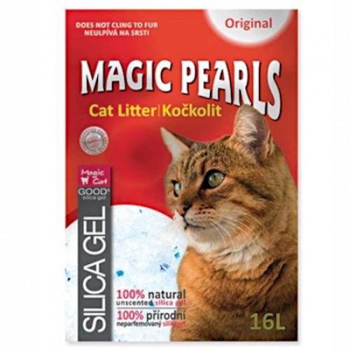 Żwirek silikonowy magic pearls 16 l do kuwety dla kota