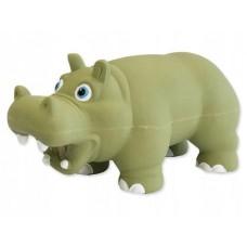 Hipopotam zielony dźwięk 17cm zabawka dla psa