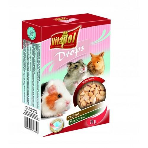 Vitapol dropsy jogurtowe 75 g 1034 dla świnki morskiej, chomika, królika