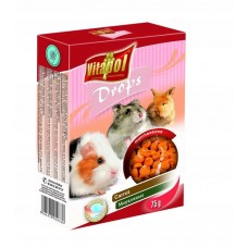 Vitapol dropsy marchewkowe 75 g 1036  dla świnki morskiej, chomika, królika