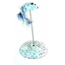Zabawka dla kota myszka na sprężynce y0249