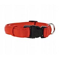 Zolux obroża taśma cushion 15mm 541115  czerwona