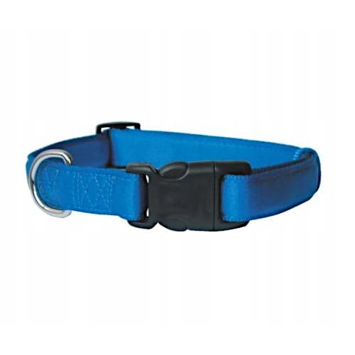 Zolux obroża taśma cushion 15mm 541115  niebieska