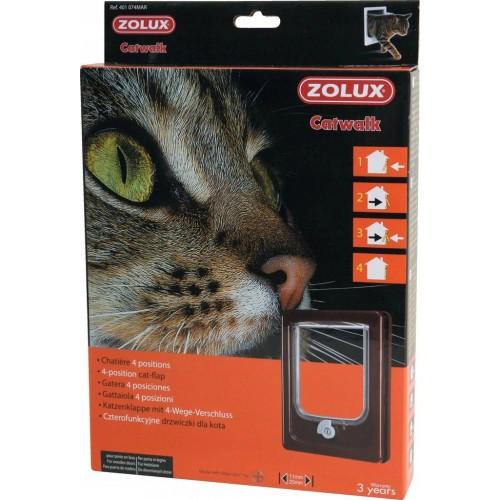 Zolux drzwiczki dla kota brąz 401 074