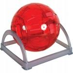 Zolux kula do biegania dla chomika 2w1 na podstawie czerwona 280015