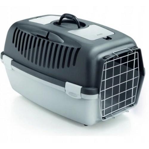 Transporter gulliver 2 metal popielaty dla psa lub kota