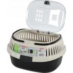 Transporter dla gryzonia: chomika, szczura,małego kota - neo czarny/beż 208-008