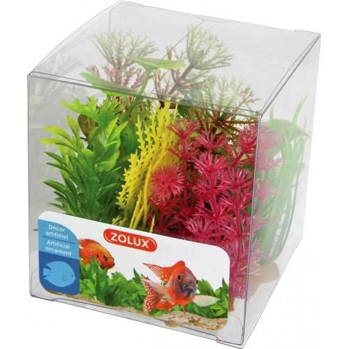 Zolux dekoracja roślina pudełko mix 6 szt zestaw 4