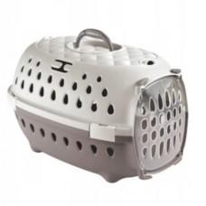 Transporter dla kota, psa, królika, świnki morskiej - smart brązowo/biały
